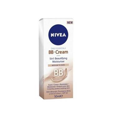 nivea daily essentials bb cream 5 in 1 beautifying moisturiser medium to dark spf10 50ml inish. Black Bedroom Furniture Sets. Home Design Ideas