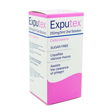 Exputex Carbocisteine 250mg 5ml Oral Solution Inish