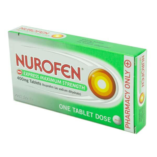 nurofen express max strength 400mg ibuprofen tablets inish