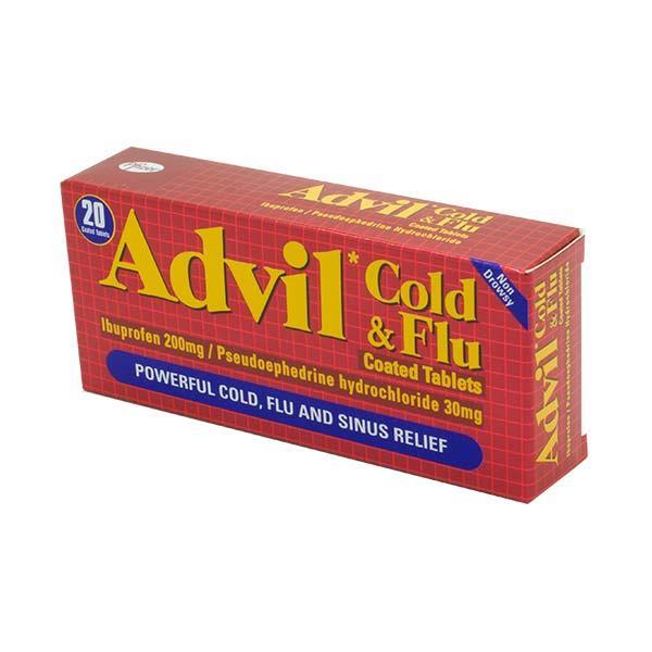 Advil Cold Flu Tablets 20 Pack Inish Pharmacy Ireland